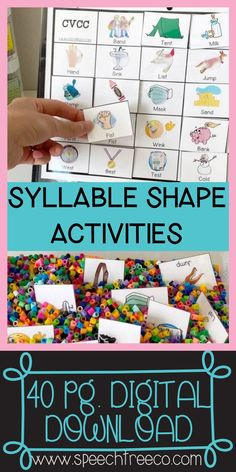 This resource comes with 40 pages of activities to work on the following syllable shapes:CV, VC, CVC, CVCV, CVCC, Multisyllabic, l/s/r blends.These activities are great for using along with mini objects, play doh, and dry erase markers. However, the unit can also be used without any of these items. Over 25+ target words for each syllable shape and ideas for using them at both the word level and sentence level while keeping your client interested in the activity. No prep needed. College Nursing, Nursing Notes, Speech Therapy Activities, Fun Activities, Childhood Apraxia Of Speech, Phonological Processes, Syllable, Dry Erase Markers, Speech And Language