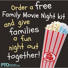 Get our free Family Movie Night kit for hosting a fun family event!