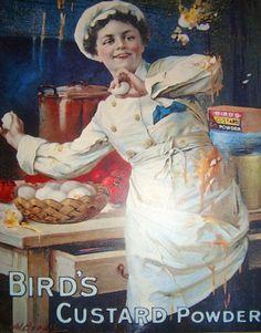 Items similar to Retro Poster, Vintage Style, 'Bird's Custard Powder' Advertisement, Facsimile Print on Etsy Retro Poster, Poster Vintage, Vintage Ads, Bird's Custard, Custard Powder, Ad Art, Brochures, Some Fun, Etsy