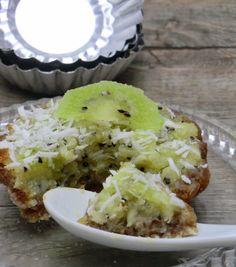 Ma petite cuisine gourmande sans gluten ni lactose: Tartelettes crues pomme, kiwi et noix de coco sans gluten et sans lactose