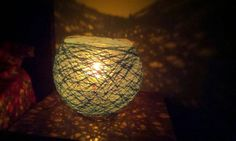 Lamp shade. It is hand made yarn lamp shade by Parulcrafts on Etsy