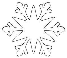 Frozen Party Snowflake OutlineSnowflake StencilSnowflake CutoutsSimple