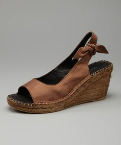 Take a look at this Brown Paloma Sandal by Eric Michael by Laurevan on today! Cheap Shopping, Michael Brown, Cute Sandals, Ankle Strap, Casual Shoes, Brown Leather, Peep Toe, Espadrilles, Take That