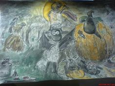 """ drawing by shleepy Sheep Art, Halloween Drawings, Shaun The Sheep, A Pumpkin, Flocking, Trick Or Treat, Happy Halloween, Carving, Yard"
