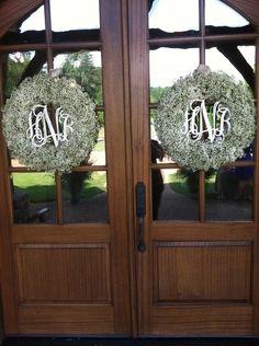 Monogrammed wreaths