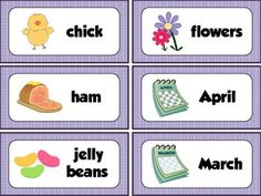 EASTER VOCABULARY WORD WALL CARDS