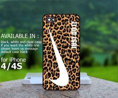 AJ 281 Nike Just Do It Leopard Pattern - iPhone 4/4s Case | BestCover - Accessories on ArtFire
