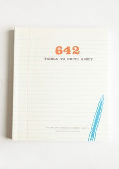 642 Things to Write About book - Find your creative inspiration with this delightful book that offers a collection of thought-provoking writing prompts and generous space to jump start your imagination.