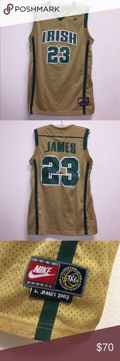 07ee80313d34 Lebron James Irish High School Jersey Size men s M. Item in excellent  condition! No