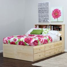 Gothic Cabinet Craft - Queen Storage Bed with 12 Drawers, $899.00 (http://www.gothiccabinetcraft.com/queen-storage-bed-with-12-drawers/)