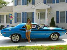 Mopar Andrea and her Dodge Challenger
