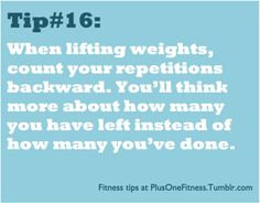 Weight lifting tip