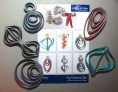Dragonfly Quilt Shop: Zipper ornaments