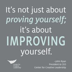 Improve yourself!