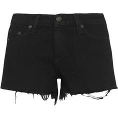 Rag & Bone/JEAN Coal Cut Offs found on Polyvore featuring shorts, black, cutoff shorts, cotton shorts, zipper shorts, rag bone shorts and cut off shorts