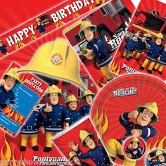 Fireman Sam Children's Party Partyware Tableware All in One Listing | eBay