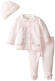 Amazon.com: Little Me Baby-Girls Newborn Roses 3 Piece TMH Pant Set: Clothing