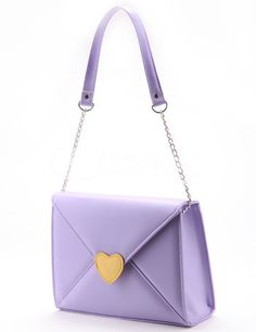 Lovely Lolita Pattern Envelope Shaped PU PVC Womens Shoulder Bag - Milanoo.com