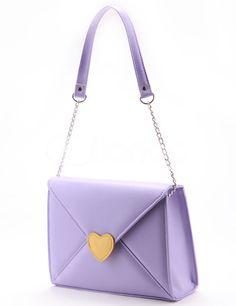 Lovely Lolita Pattern Envelope Shaped PU PVC Womens Shoulder Bag - Milanoo.com