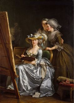 Adélaïde Labille-Guiard Self-Portrait with Two Pupils 1785