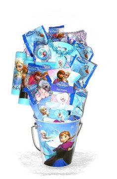 Disney frozen science easter basket easter monsters and disney disney frozen tin mini pail gift basket great for easter birthday thank you or get well negle Image collections