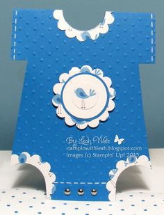 Stampin' With Leah: Baby Boy Onesie.