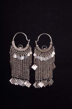 Earrings. Silver. Oman. Early XX century