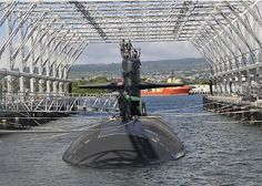 PEARL HARBOR (Dec. 15, 2011) The Los Angeles-class attack submarine USS Olympia (SSN 717) conducts deperming at the new drive-in submarine magnetic silencing facility at Joint Base Pearl Harbor-Hickam. Olympia is the first submarine to complete this treatment. (U.S. Navy photo by Mass Communication Specialist 2nd Class Ronald Gutridge/Released)