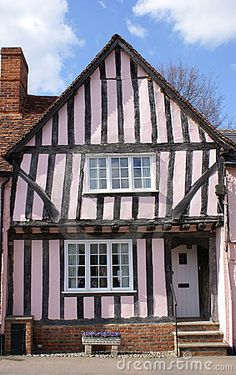 15th century Tudor timber framed house in Lavenham, Suffolk.