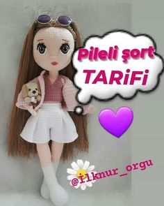 Baby Girl Toys, Toys For Girls, Baby Knitting Patterns, Crochet Pattern, Easy Crochet Projects, My Little Baby, Amigurumi Toys, Crochet Dolls, Handmade Toys