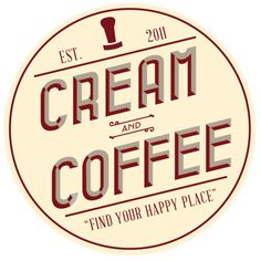 Cream and Coffee logo designed by Tyler Rountree at Rountree Design Co. https://www.tylerrountree.com #design #business #branding #logo #color #coffee