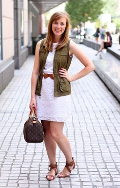 Tracy from The Right Shoes Blog in our Daisy Lace Shift