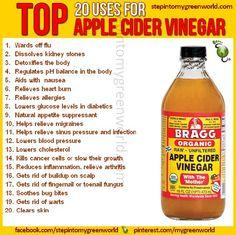 20 reasons why you should use Braggs Organic Apple Cider Vinegar.
