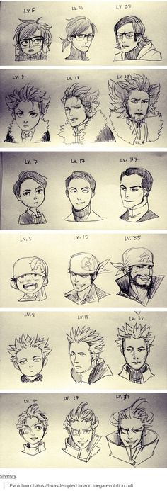Evolution of Villainous Team Leaders<<< OMiGosh! Lvl 17 Giovanni looks like Artemis Fowl!