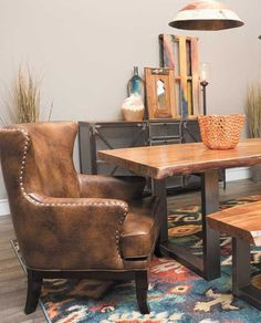 LOVE this live edge dining table. No two will ever be the same!