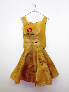 Pretty dress made out of Safeway bags (found on flickr a long time ago).