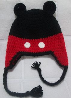 Resultado de imagem para touca mickey bebe crochet