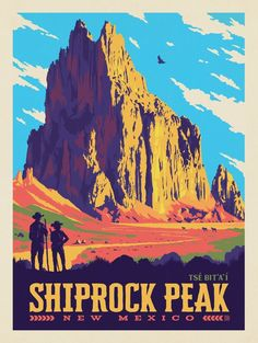 Anderson Design Group – American National Monuments - New Site National Park Posters, National Parks, Southwestern Art, Land Of Enchantment, Travel Illustration, Wisconsin, Michigan, Vintage Travel Posters, New Mexico