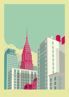 AphroChic: New York Skyline Illustrations By Remko Heemskerk                                                                                                                                                                                 More