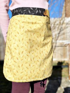 Easy Sewing Projects, Sewing Projects For Beginners, Sewing Ideas, Sewing Crafts, Sewing Tips, Fabric Crafts, Apron Pattern Free, Apron Patterns, Sewing Patterns
