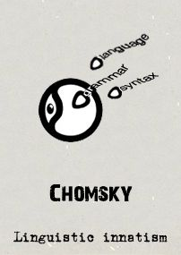Chomsky's linguistic innatism can be seem as a modern revival of Rationalism's Innate Ideas. A young child's mind, less developed than some higher primates, is yet capable of learning a variety and multitude of complicated grammatical structures and languages.