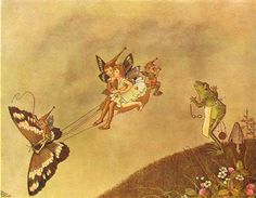 Ida Rentoul Outhwaite ~ The Butterfly Chariot ~ The Enchanted Forest ~ 1921..
