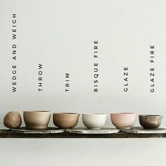 This unique pottery studio is seriously an extraordinary style philosophy. Ceramic Studio, Ceramic Clay, Ceramic Pottery, Pottery Art, Ceramic Bowls, Clay Studio, Pottery Tools, Slab Pottery, Glazes For Pottery