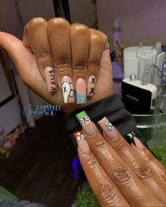 Acrylic Nails Coffin Pink, Short Square Acrylic Nails, Drip Nails, Glow Nails, Classy Nails, Simple Nails, Arylic Nails, Exotic Nails, Luxury Nails