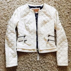 White jacket!!! Never been worn, it Was in My closet All The time, haș some small small cream-yellow marks on it, bought it Like that a'gaci Jackets & Coats Blazers