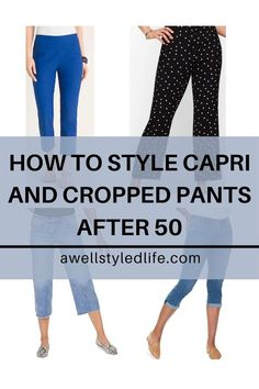 Learn how to wear capri and cropped pants after 50 with style. Here are the tips you need to look stylish wearing cropped and capri pants. Crop Dress, Wide Leg Cropped Pants, Denim Fashion, Women's Fashion, Fashion Advice, Fashion Bloggers, Over 50 Womens Fashion, Dress With Sneakers, Short Tops