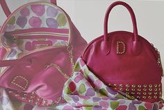 Airport s Glamour hand bag Hand Bag Black cherry natural leather Made in Italy