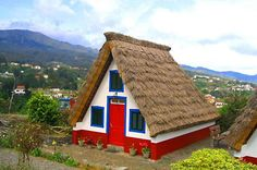 Art Portugal a-roof Places In Portugal, Spain And Portugal, Colourful Buildings, Colorful Houses, Small Cottages, Historical Architecture, Belle Photo, House Colors, Building A House