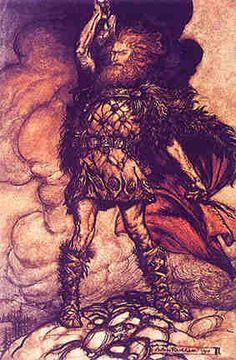 Thor illustration by Arthur Rackham