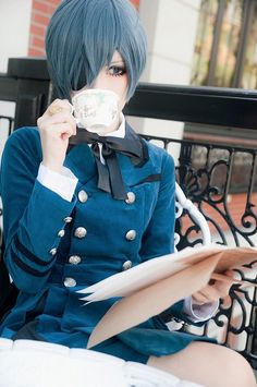 COSPLAY~★ 'costume play' character costume--!••• Ciel Phantomhive from 'Kuroshitsuji'